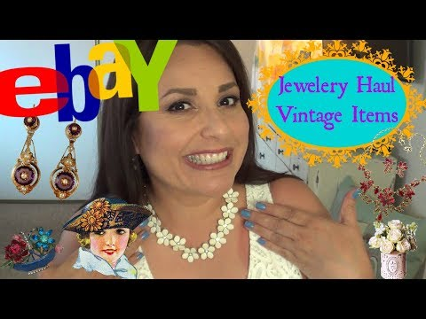 Haul | Ebay Jewelry Haul | Vintage Earrings & Necklaces | Bid & Buy It Now