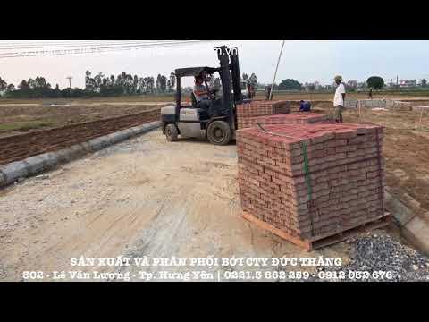 Quy trình sản xuất gạch lát vỉa hè con sâu - Gạch ziczac tại cty Đức Thắng | Xây dựng Hưng Yên.vn