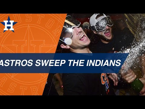 Video: Astros sweep the Indians to advance to the ALCS