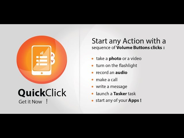 QuickClick - Start any Action with the Volume Button click!