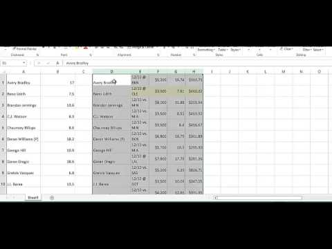 GrindersU - How to Create Aggregate Projections for Daily Fantasy Sports