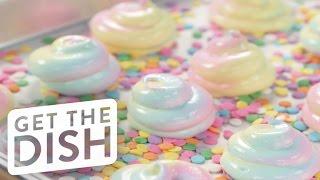 Unicorn-Poop-Inspired Meringues | Get the Dish by POPSUGAR Food