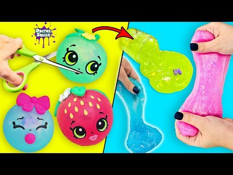 Making SLIME From SQUISHY Shopkins Squeezkins! Doctor Squish