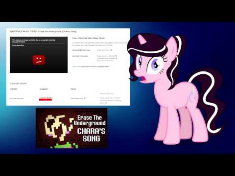 A Youtuber named Magpiepony has received a copyright strike from someone who had stolen and reuploaded her original video.