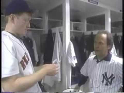 yankee stadium - Conan and Billy Crystal visit Yankee Stadium. GUM!!!