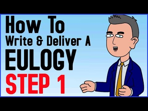 How To Write And Deliver A Eulogy Step 1 of 6 - Funeral Speech - A Moment For Yourself Tutorial