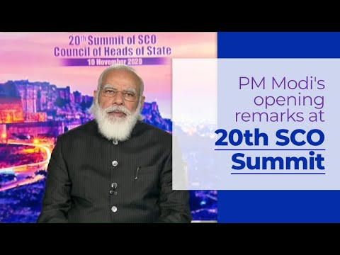 PM Modi's remarks at 20th Shanghai Cooperation Organisation (SCO) Summit 2020 | PMO