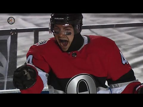 Video: Pageau opens scoring in Senators and Canadiens outdoor game