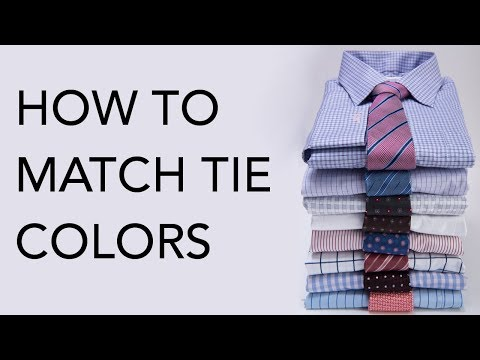 How To Match Tie Colors To Suits & Shirts