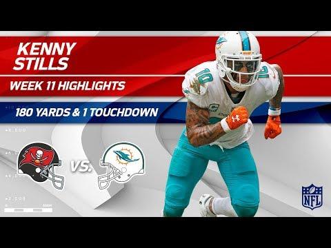 Video: Kenny Stills' Amazing Game w/ 180 Yards & 1 TD! | Bucs vs. Dolphins | Wk 11 Player Highlights