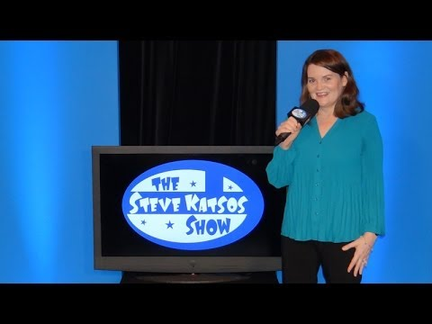 Katie Grady does stand-up comedy on The Steve Katsos Show