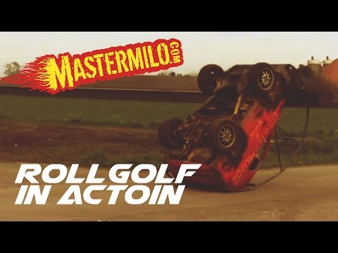 "Volkswagen ""Roll Golf"" turns heads by doing flips"