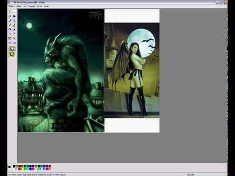 Como juntar  2 imagens (Paint)