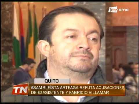 Asambleísta Arteaga refuta acusaciones de exasistente y Fabricio Villamar