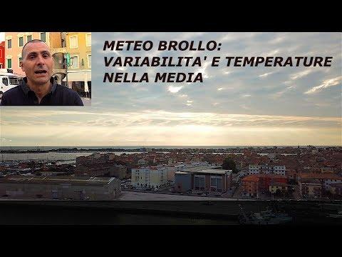 METEO BROLLO  VARIABILITA' e TEMPERATURE NELLA MEDIA