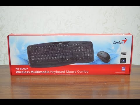 Genius Wireless Multimedia Keyboard and Mouse KB-8000X Unboxing and Installations