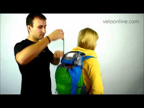 Видео о Велосипедный рюкзак Deuter ULTRA BIKE 5470 fire-silver
