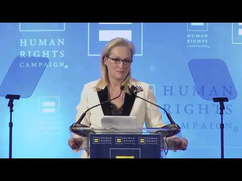 Ken Burns Presents Meryl Streep with HRC's National Ally for Equality Award