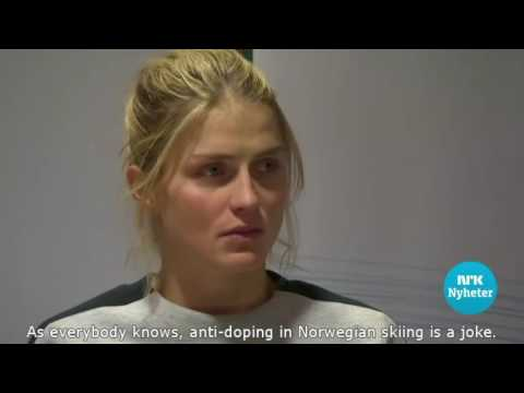 Therese Johaug's suspicious press conference (english subtitles)