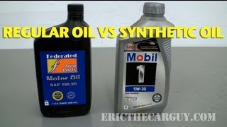 Synthetic Oil Vs Regular Oil - Regular Oil Vs Synthetic Oil Ericthecarguy Vidinfo