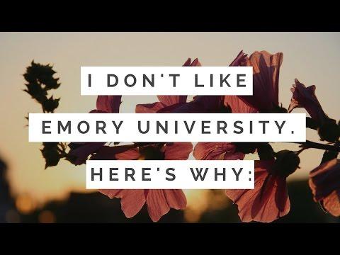 I DONT LIKE EMORY UNIVERSITY| 1st Semester Review