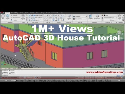 Autocad 3d house modeling tutorial cloud atlas for Autocad drawings of houses