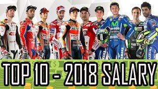 Video TOP 10 - 2018 MOTO GP RIDERS´S SALARIES* - HD MP3, 3GP, MP4, WEBM, AVI, FLV Februari 2018