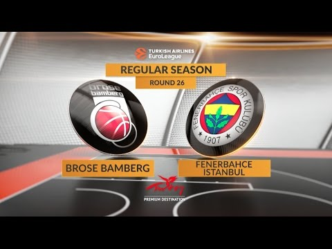EuroLeague Highlights RS Round 26: Brose Bamberg 78-83 Fenerbahce Istanbul