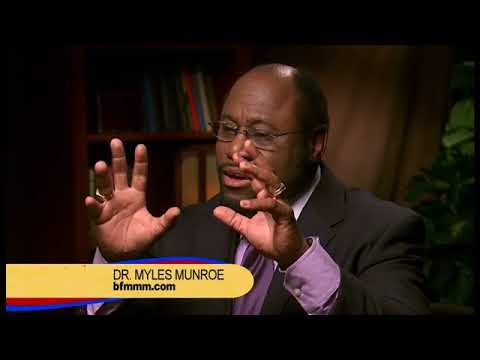 Dr Myles Munroe   Chase God NOT Money