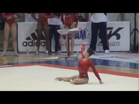 Sarah Finnegan (USA) Jesolo 2012 - FX 14.60, 3rd place