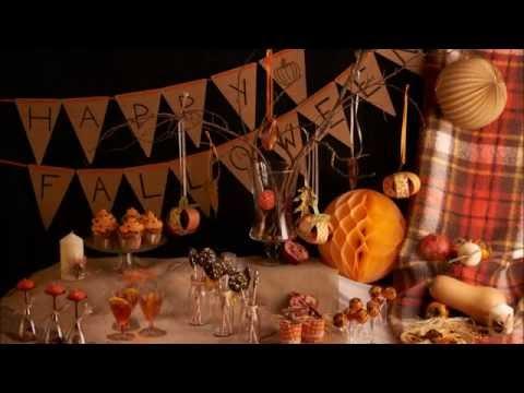 Halloween-Dekoration – Herbstbuffet