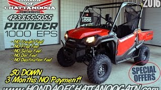9. 2016 Honda Pioneer 1000 EPS Review of Specs / For Sale - TN.GA.AL.NC.SC area PowerSports