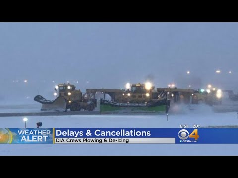 Winter Storm Delays At DIA Continue Into Monday