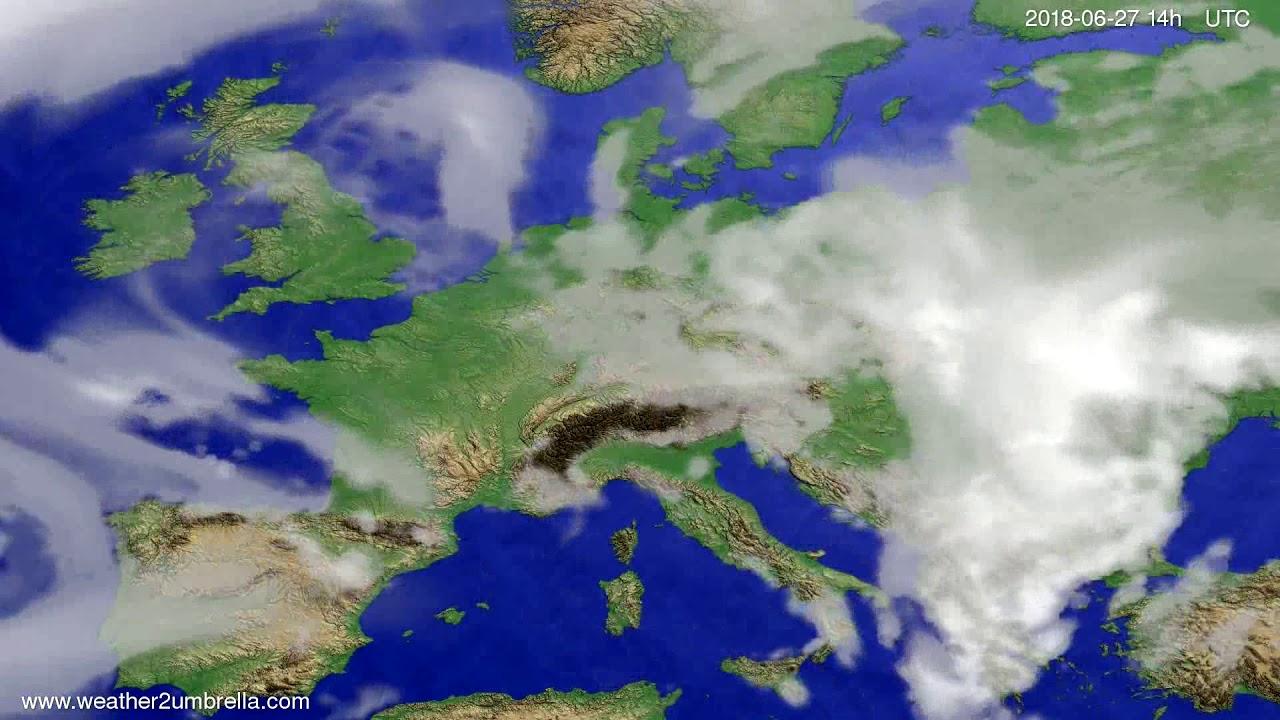 Cloud forecast Europe 2018-06-23