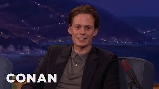 Bill Skarsgard Walked Through Hollywood In Clown Face  - CONAN on TBS