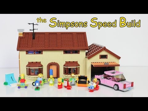 Building the LEGO Model of the Simpsons House TimeLapse