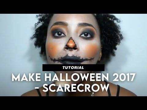 Maquiagem - Halloween Makeup 2017 - Scarecrow (Dark Skin)  Paolla Dantas