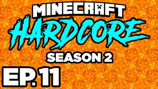 • • • EXPLODING BEDS TO FIND ANCIENT DEBRIS!! - Minecraft: HARDCORE s2 Ep.11 (Gameplay / Let's Play)