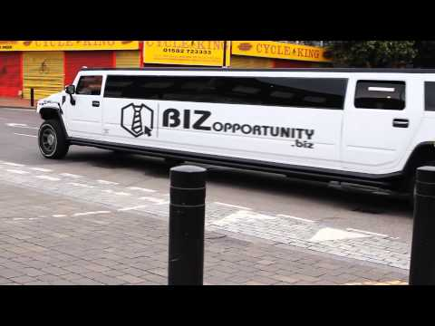 (231) Great Business Ideas Are Promoted On This Hummer Limo