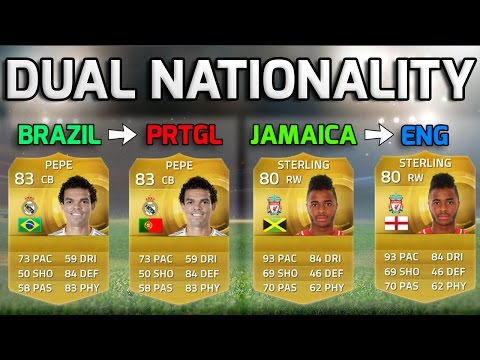 dual - Fifa 15 players with dual nationalities who could change nation! :D Get the cheapest most reliable coins at IGSky - http://goo.gl/NXMNIi Discounted Games/MSP/PSN codes & More - http://goo.gl/DsAswg ...