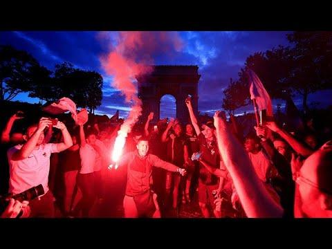 Μουντιάλ: Πανηγυρισμοί στη Γαλλία μετά την πρόκριση στον τελικό…
