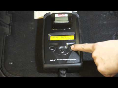 Battery tester with built-in printer 802606