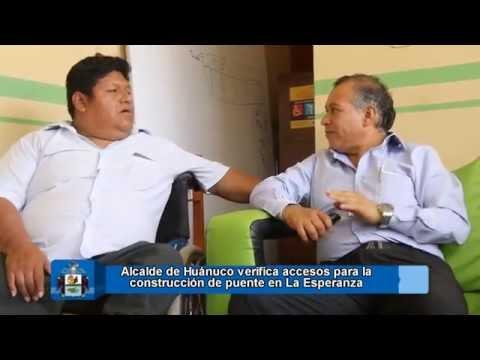 ALCALDE INSPECCIONA ACCESOS PARA CONSTRUCCION DE PUENTE EN LA ESPERANZA