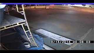 Police release video in pizza parlour shooting