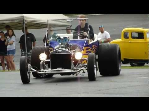 BAD ASS T-BUCKET ROADSTER * FAT TIRES * WHEELIE BARS * TUNNEL RAM *  INSANE ROD * PRO STREET * WOW
