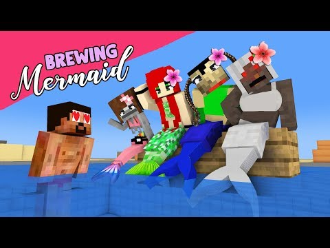 MONSTER SCHOOL BREWING MERMAID - FUNNY MINECRAFT ANIMATION
