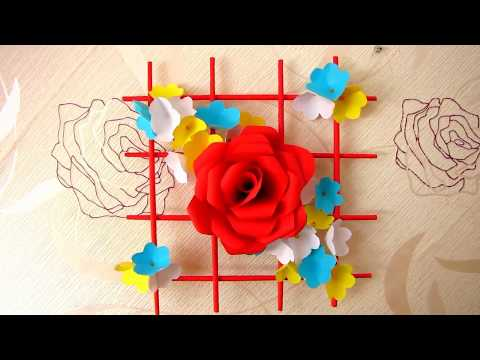 DIY. Simple Home Decor. Wall Decoration. Hanging Flower. Paper Craft Ideas (видео)