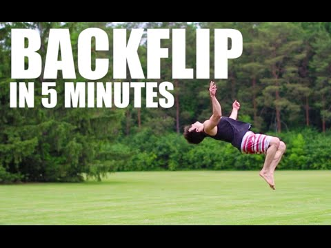 Learn how to backflip in 5 minutes