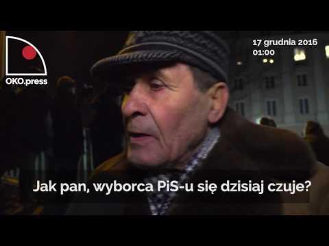 Rozczarowany wyboraca przyszedł na protest pod Sejm!