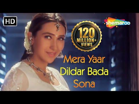 Video Mera Yaar Dildar Bada Sona - Jaanwar - Akshay Kumar - Karisma Kapoor - Sukhwinder Singh -Gold songs download in MP3, 3GP, MP4, WEBM, AVI, FLV January 2017
